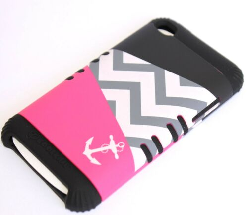 HARD /& SOFT RUBBER HYBRID HIGH IMPACT CASE CHEVRON iPod Touch 4th Gen ANCHOR