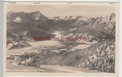 (84954) Foto Ak Garmisch Partenkirchen, Blick V. Wank Vor 1945 Freigabepreis