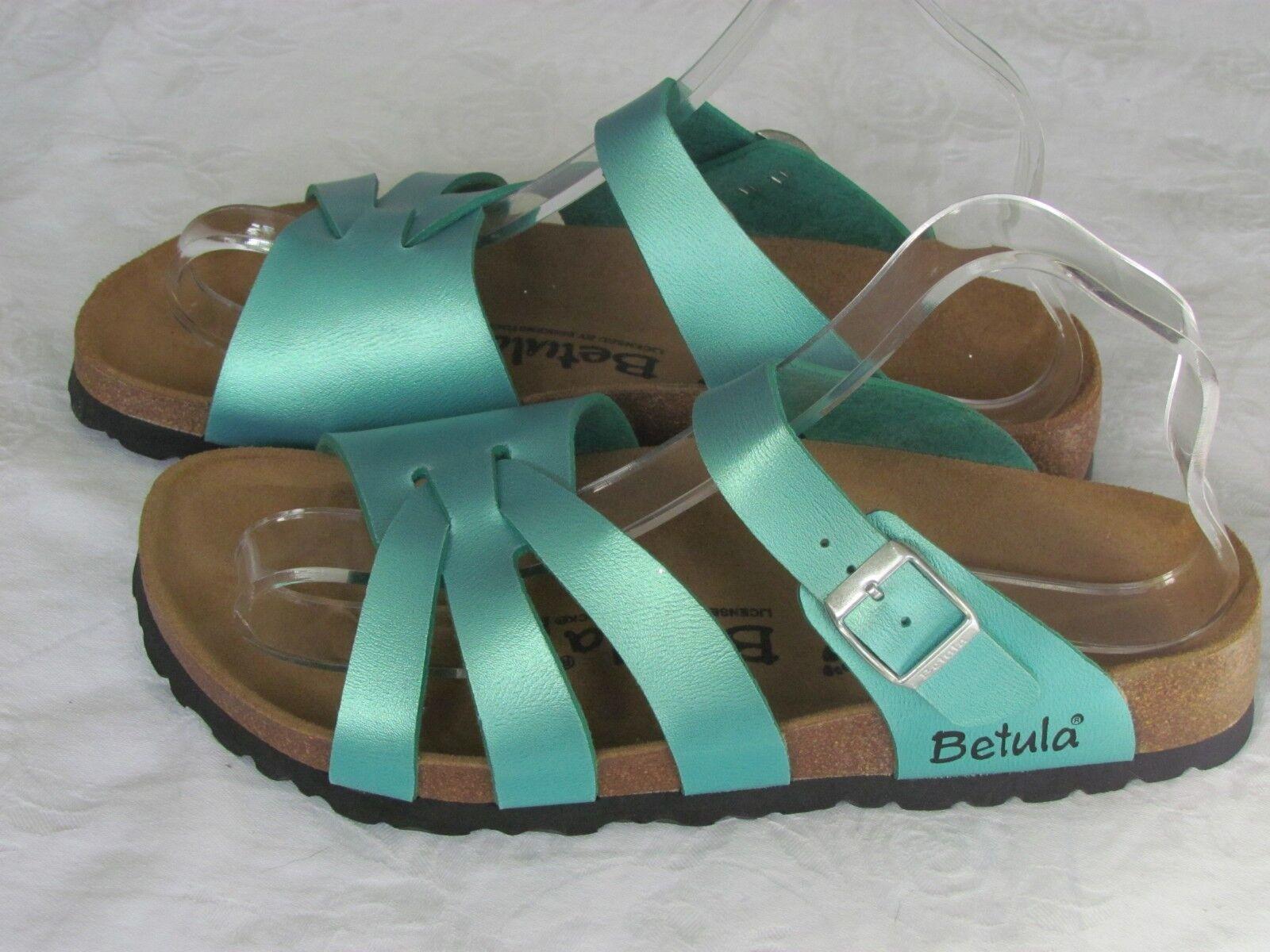 New Betula Ladies GORGEOUS  blu verde Shimmer Sandals  UK Dimensione 5.5 EU 39  ordinare on-line