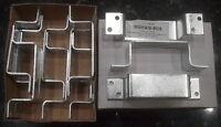 Door Bar Holder, Battalion 1hex9 Steel 6-1/2l1-1/2w, 1-9/16offset Box Of 12