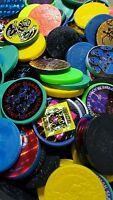 10pcs Assorted Pog Plastic Slammers Lot Kini Tazo Pogs Milk Caps Vintage Usa
