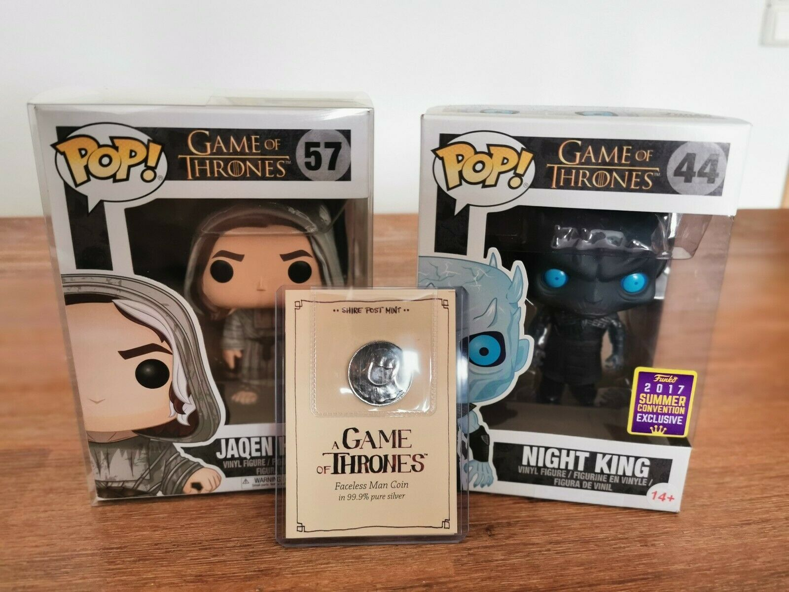 Funko Pop Jaqen H'Ghar  57 NYCC 2017 Limited Edition   99.9% Silber Münze GOT