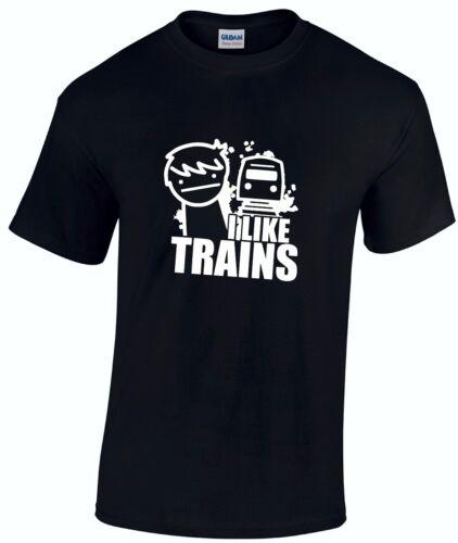 ASDF I LIKE TRAINS Internet Cult Cartoon Gamer Children/'s t-shirt *ALL AGES*