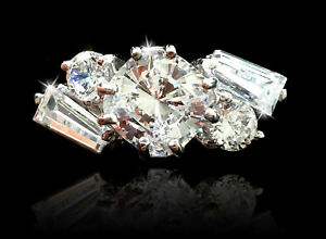 Other Fine Rings 1.5 Cushion Free Form Ring Brilliant Top Quality Cz Moissanite Simulant 7
