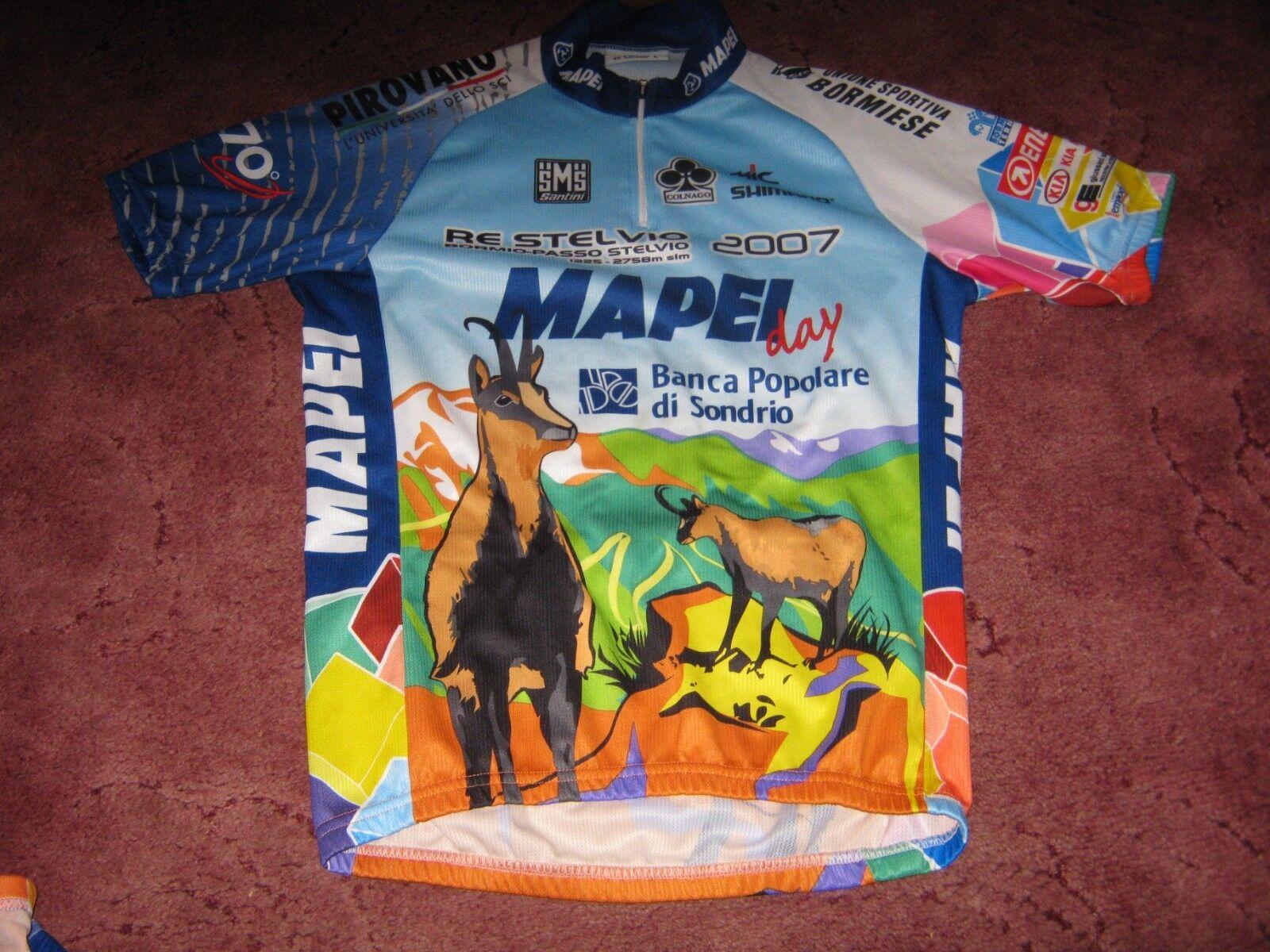 Mapei Day 2007 Santini Italian  cycling jersey Sz  48 L  quality guaranteed