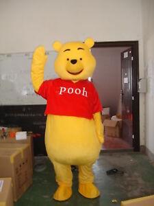 3f96e63ec328 Winnie The Pooh Bear Mascot Costume Cartoon Character Parade Cosplay ...