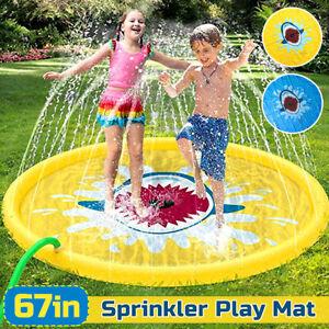 170cm/67'' Kids Inflatable Splash Water Mat Sprinkler Pad Wading Play