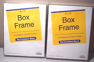 Lot Of 2 Container Store 8 X 10 Acrylic Box Frames Photos Documents