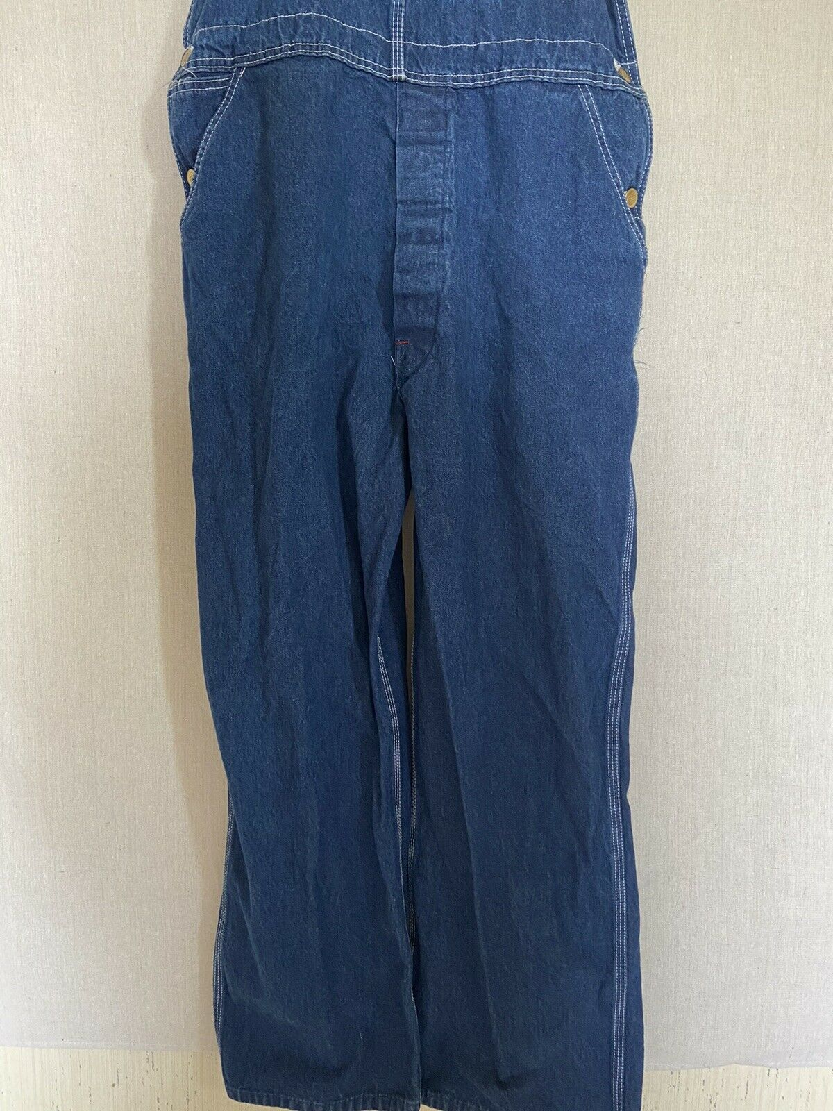 Dickies Denim Overalls Size 38x30 Fit 36x29 - image 4