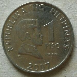 Philippines 1 Piso coin 2007