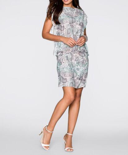Precioso vestido con patrones en Mint estampados-talla 36-q6590-924740