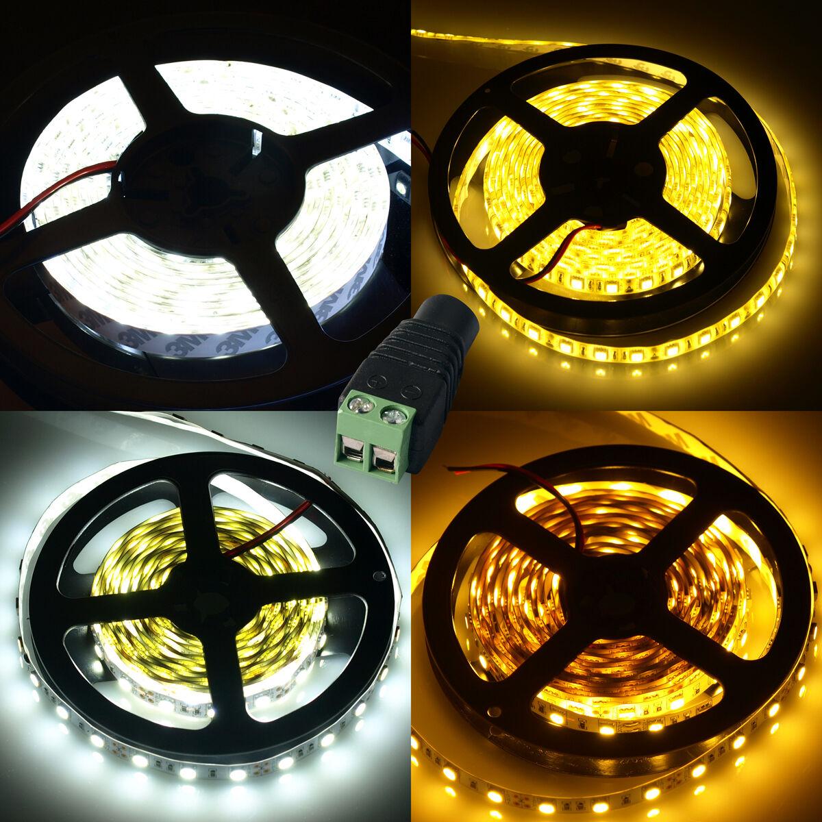 5M 300 LED`s 5050 5630 SMD Lichtleiste Kühl/Warmweißes Licht 12V ...