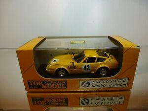 TOP-MODEL-FERRARI-365-GTB4-DAYTONA-SPA-1973-42-YELLOW-1-43-VERY-GOOD-IN-BOX