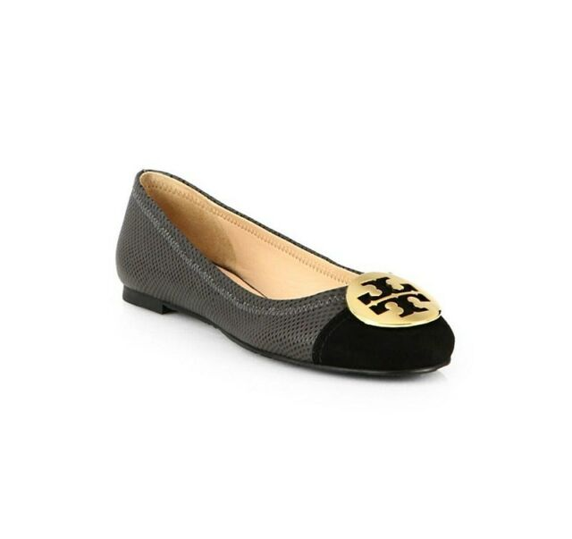 0ff9a869ea41 AUTH NEW WOMEN TORY BURCH SERENA EMBOSSED LEATHER BALLERINA BALLET FLAT US  6.5
