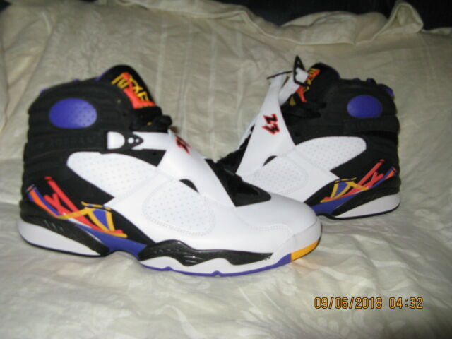 2c045b01ed7b Nike Air Jordan VIII 8 Retro White Infrared 23 Black 3peat 305381 ...