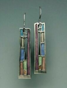 Multi-Color-Gemstone-Women-039-s-925-Silver-Ear-Hook-Drop-Dangle-Earrings-Party-Gift