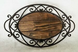 Oval-Wood-and-Metal-Serving-Tray-Bread-Serveware-Large-Rustic-Farmhouse