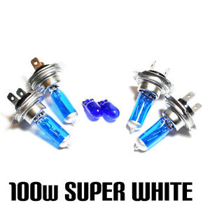 Vauxhall Corsa MK2//C 55w Super White Xenon HID Low Dip//LED Side Light Bulbs Set