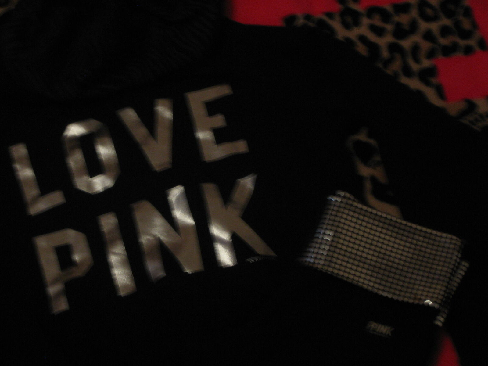 NEW VICTORIA SECRET PINK BLING HOODIE HOODIE HOODIE & MIRROR LEGGINGS YOGA PANTS SET +Gift Bag 8491b0