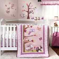 Set Bedding Crib Baby 3 Piece Nursery Girl Infant Boy Darling Owl Tootsie Gift