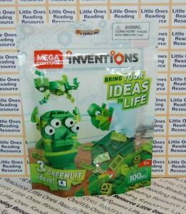 Mega-Construx-Inventions-GREEN-BRICK-Building-Set-FWP21-100-Pieces