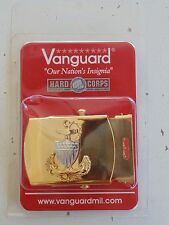 USCG US COAST GUARD E-7 CHIEF PETTY OFFICER RATES UNIFORM PANTS GOLD BELT BUCKLE