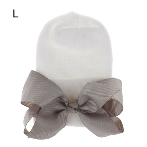 Newborn Baby Girl Hospital Hat Turban Big Bow Cap Infant Nursery Beanie Headwrap