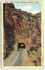 VTG Claypool Tunnel Old Car Globe Superior Highway Arizona