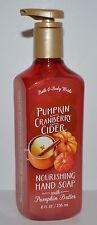BATH & BODY WORKS PUMPKIN CRANBERRY CIDER NOURISHING HAND SOAP WASH SHEA BUTTER