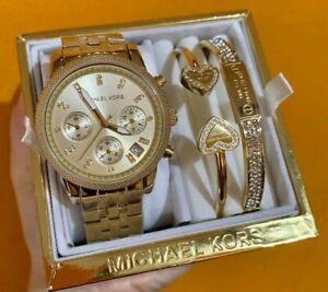 Michael Kors Ritz Chronograph Watch and Bangle Set