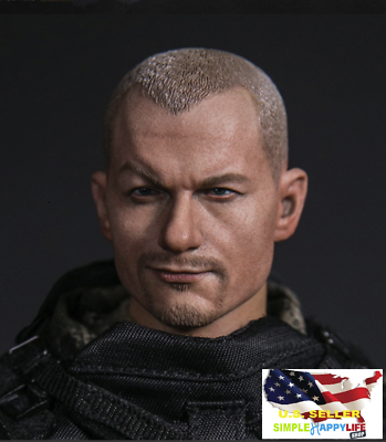 1//6 male head expression soldier for Hot toys phicen ganghood worldbox ❶USA❶