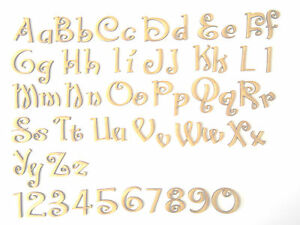 Christmas Font Wooden Letters Lettering Craft Card Wall Art Door