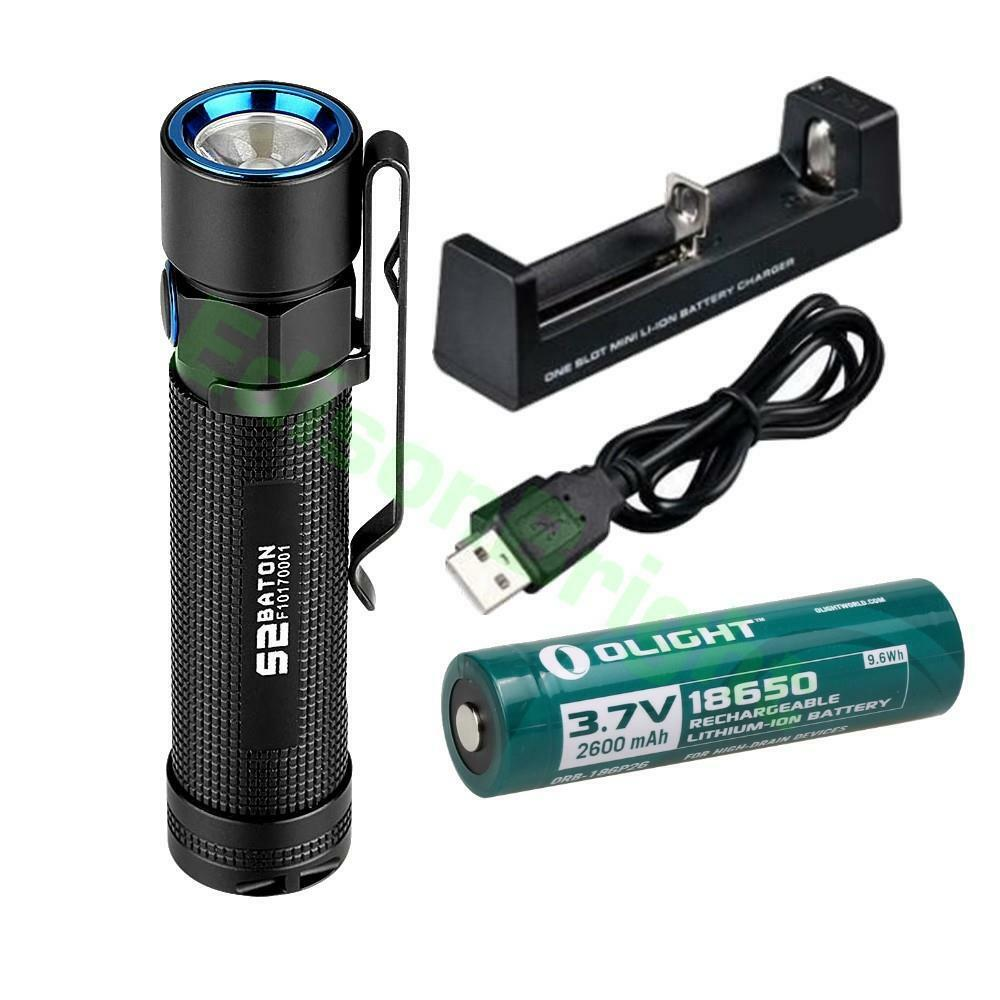 Olight  S2 950 lumen Cree LED Flashlight w  2600mA 18650 Li-ion battery & Charger  clients first reputation first