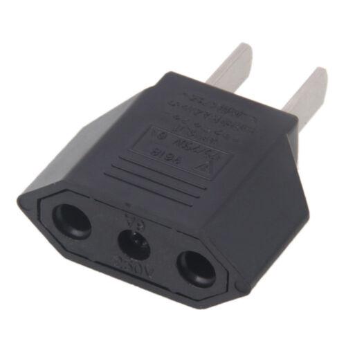 New EU Euro Europe to US USA Power Jack Wall Plug Converter Travel Adapter Us