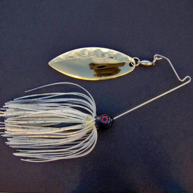 Bassdozer spinnerbaits SHORT ARM WILLOW 1/2 oz GOLD GLIMMER spinner bait lures