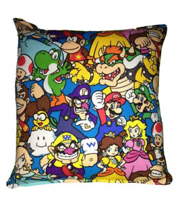 Mario-Grouped-Pillow-HANDMADE-Super-Mario-Brothers-Switch-All-Star-Made-in-USA