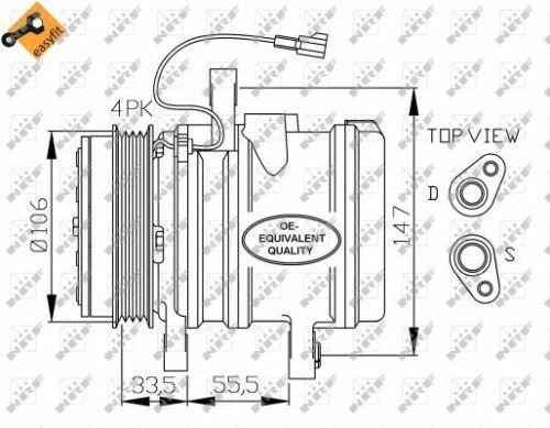 NRF Kompressor Klimaanlage 32436 für CHEVROLET