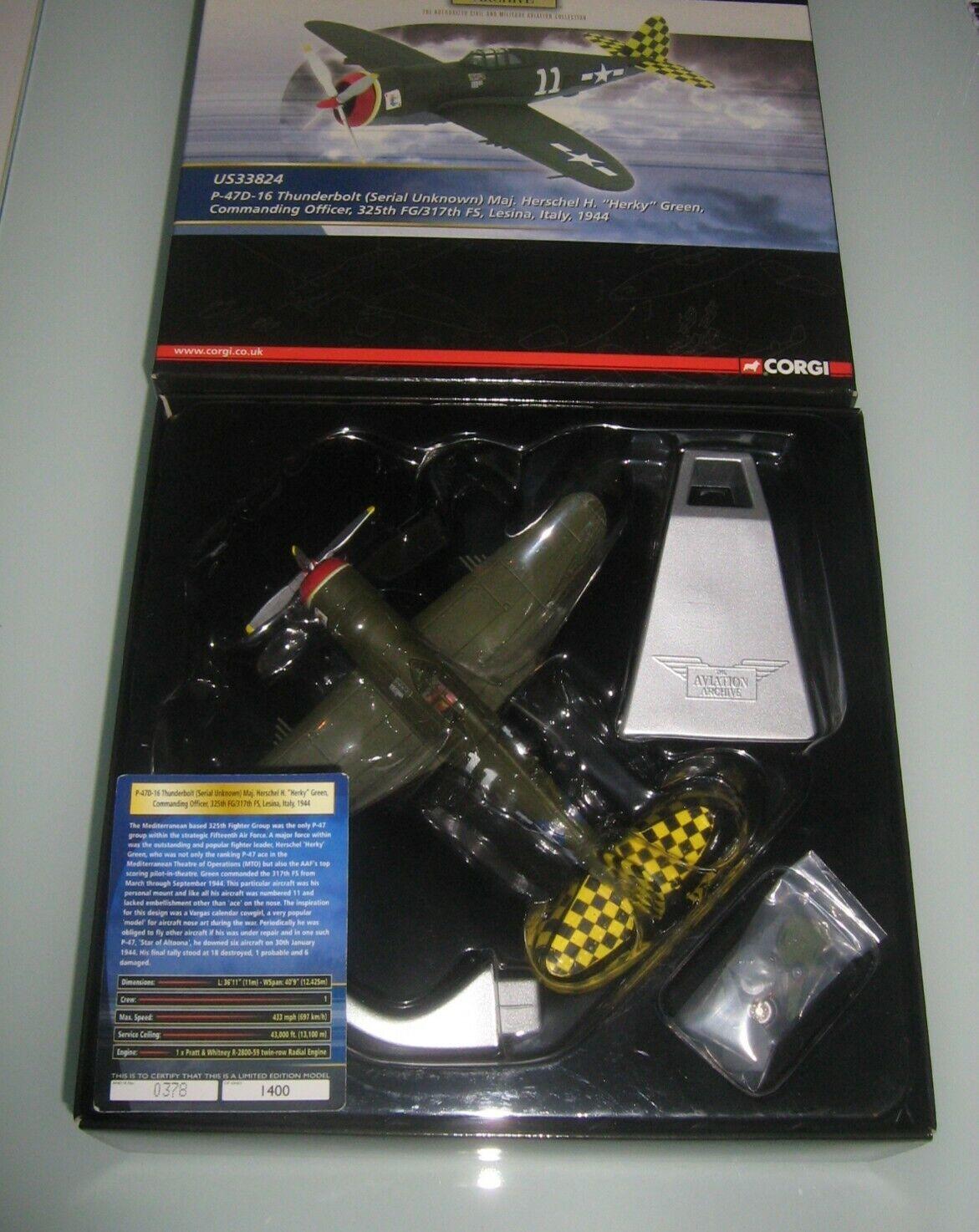 Corgi 1 72 P-47D maj.herschel maj.herschel maj.herschel (US33824) f3234b