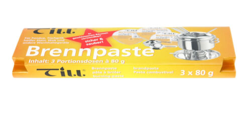 Safety Burning Paste for Paste Burner 3 Packages with Each 3 Piece