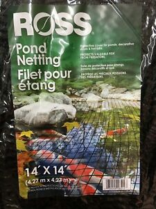 Lot Of 2 Ross Pond Netting 14 X 14 For Ponds Decorative Pools
