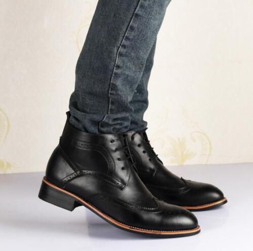modo Gli Wing Lace Stivaletti formale Brogue in uomini Tip Oxford si Up Size pelle vestono in scarpe SUrFIUq