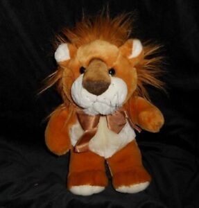 14-034-VINTAGE-KIDS-OF-AMERICA-BABY-BROWN-TAN-LION-STUFFED-ANIMAL-PLUSH-TOY-LOVEY