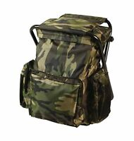 Backpack & Stool Combo - Choice Of Woodland Camo Or Olive Drab