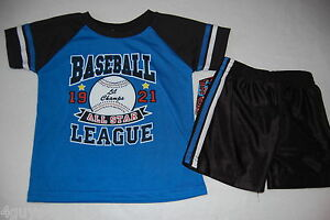 a3724a805 Image is loading Toddler-Boys-Shorts-Set-ROYAL-BLUE-BLACK-Athletic-