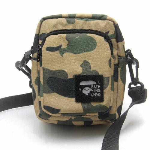 2019 A BATHING APE BAPE Green Camo Waist Bag Shoulder Crossbody Travel Bag