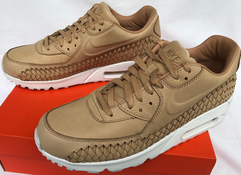 Nike Air Max 90 Woven 833129-200 Vachetta Tan Marathon Running Shoes Men's 10.5