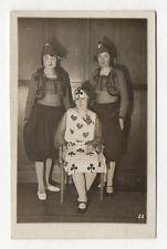 PHOTO 1927 Déguisement Sainte Catherine Jeu de Cartes Trèfle Coeur Surréalisme