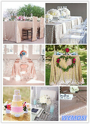2017 New ! Sequin Tablecloth 3ft to 8ft Rectangular for Wedding/ Dessert Table