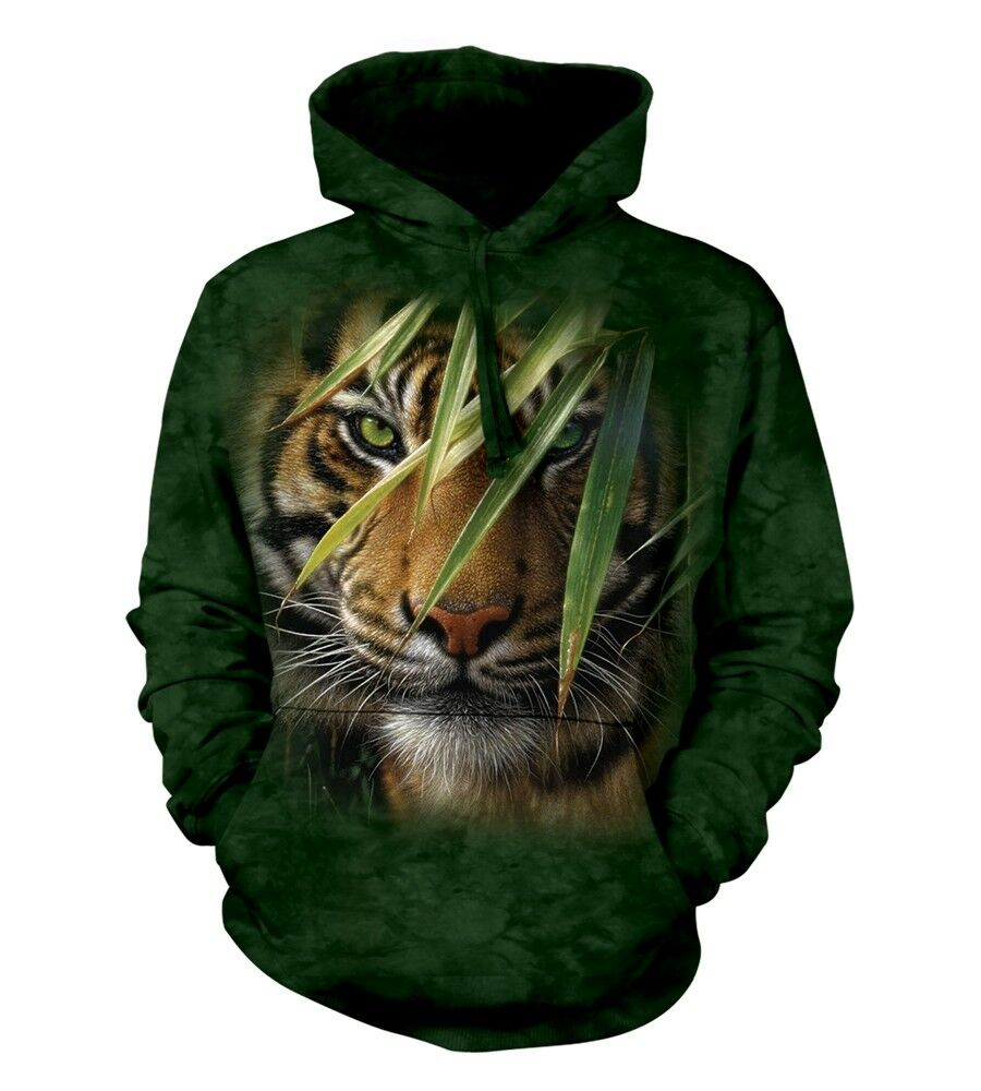 The Mountain Unisex Adult Emerald Forest Tiger Animal Hoodie