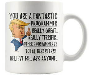 bbd22a632a2 Details about Funny Fantastic Computer Programmer Coffee Mug, Christmas  Birthday Trump Gift